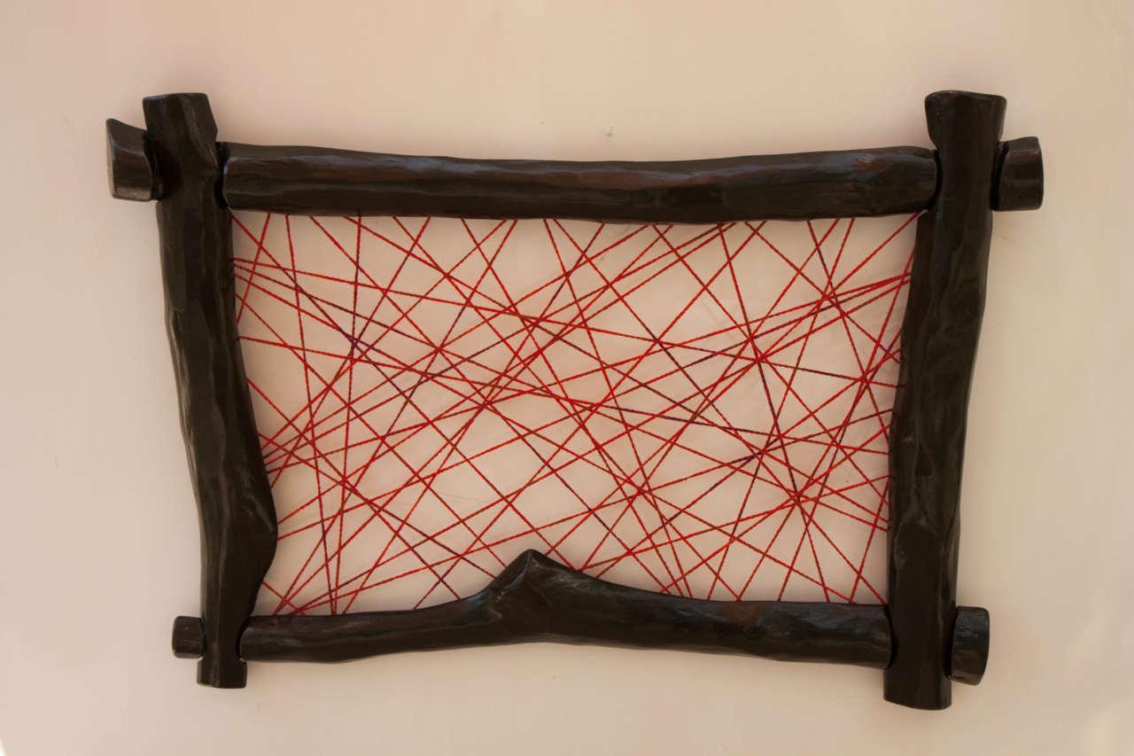 Quadro Decorativo com croché | nigrislineis